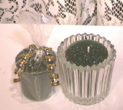Bayberry Glitter Votive Candle